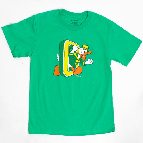 Youth Kelly Green Duck Through O Oregon Tee